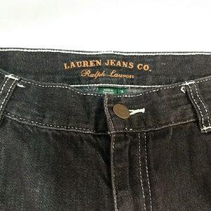 Ralph Lauren Womens Black Denim Jean Shorts 14